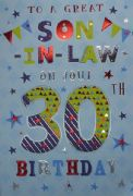 Son in Law 30th Birthday Card